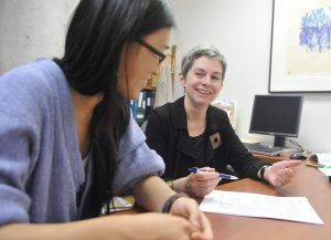 Student at Writing Centre with Instructor