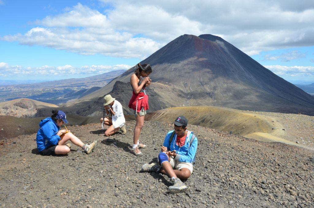 Earth Sciences Students - Field Trip in New Zealand